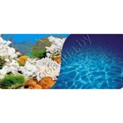 9029/9063/60 Кораллы голубой/Солнечные блики синий  60см