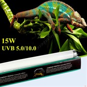 Nomoy pet Reptile lamp tube UVB 10.0 15w. Лампа для террариума 60 см.