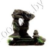 "ArtUniq Mossy Figured Rock S - Декоративная композиция из пластика ""Фигурная скала со мхом"", 20x11,5x19,5 см"