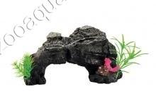 "ArtUniq Rocky Arch With Plants - Декоративная композиция из пластика ""Скальная арка с растениями"", 24x12x14 см"