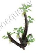 "ArtUniq Toll Branched Driftwood With Anubias nana M - Декоративная композиция из пластика ""Высокая ветвистая коряга с анубиасом нана"", 19x13,5x32 см"