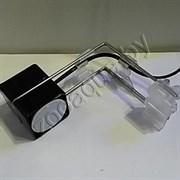 Q-LED MAXI свет-к с лампой MR16 GU 5.3 плафон черный-высокий глянц кронштейн нерж.сталь на 20-35л