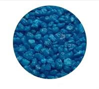 Цветная мраморная крошка 2-5 мм ГОЛУБАЯ (блестящая)