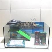 Черепашатник Aqua на 100 л. готовый комплект с оборудованием и декором