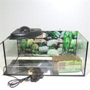 Террариум для сухопутной черепахи Aqua на 45 л. с подсветкой , термоковриком и подложкой