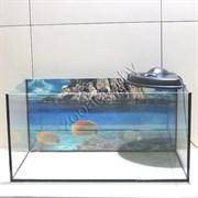 Террариум для сухопутной черепахи Aqua на 100 л. с крышкой