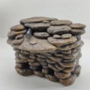 Грот для черепах угловой A-0988, NEW SUPER (KW) 23х17х20 см, с фильтром