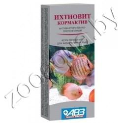 Ихтиовит кормактив (Антибактериально-протозойный корм для декоративных рыб) 25 г. - фото 15214