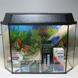 """Аквариум Aqua """"Панорама"""" 45 л.  готовый комплект с оборудованием - фото 21555"""