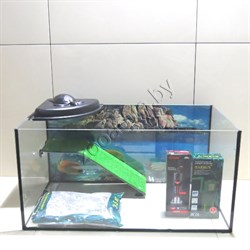Черепашатник Aqua на 100 л. готовый комплект с оборудованием и декором - фото 22247