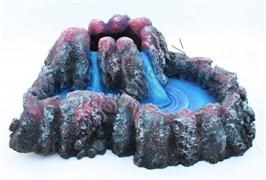 Грот-вулкан Resin Volcano 5152A (AquaEl) для AirLight (30x24x11,5 см.) синий (202097)