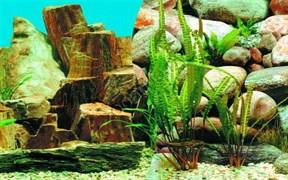 Фон для аквариума скалы с раст./камень с раст. В60 2ст 9023/9025