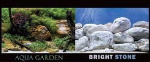 Фон для аквариума камни с мхом/белые камни В30 2ст 9075/9076