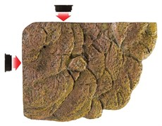 Плотик для черепах на магнитах U-734 S (KW) 15х11х3 см
