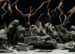 Фон для аквариума 052/60  (73/74)  Морская лагуна/Натуральная мистика 60см