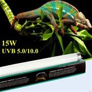 Nomoy pet Reptile lamp tube UVB 10.0 15w. Лампа для террариума 60 см.