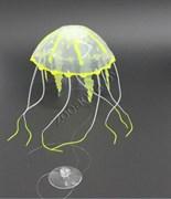 Decor 077 Силиконовая Медуза Малая, Желтая 5*15 см