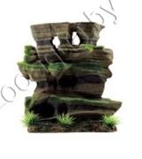 "ArtUniq Mossy Figured Rock M - Декоративная композиция из пластика ""Фигурная скала со мхом"", 20,5x8,5x20,5 см"