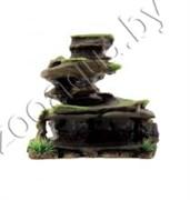 "ArtUniq Mossy Figured Rock L - Декоративная композиция из пластика ""Фигурная скала со мхом"", 22,5x11,5x21,5 см"