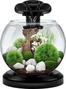 Аквариум Tetra Cascade Globe Black Duo Waterfal (черный) 6,8л круглый с LED светильником