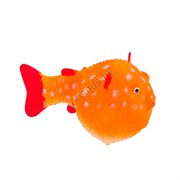 GL-268360 GLOXY Рыба шар на леске оранжевая, 8х5х5,5см Флуорисцентная аквариумная декорация