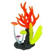 GL-268278 GLOXY Морские кораллы розовые, 14х6,5х21см Флуорисцентная аквариумная декорация