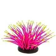 GL-268254 GLOXY Морской анемон розовый, 9,5х8,5х9см Флуорисцентная аквариумная декорация