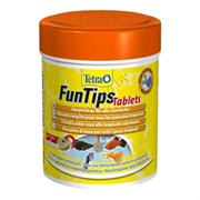 Tetra  FunTips Tablets 165 табл - корм для всех видов рыб, можно приклеивать к стеклу аквариума