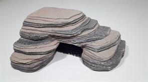 Грот для черепах угловой, 23х16х9 см.,с губкой U-811 (KW)