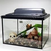Черепашатник Aqua на 35 л. готовый комплект с мостиком и декором