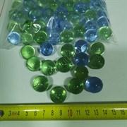 Кристалы грунт ЗЕЛЕНО-ГОЛУБЫЕ (стеклянные) 1 кг.