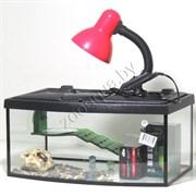 Черепашатник Aqua ТВ на 25 л. готовый комплект с оборудованием и декором