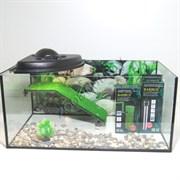 Черепашатник Aqua на 45 л. готовый комплект с оборудованием и декором