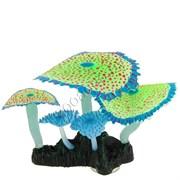 """GLOXY Флуорисцентная аквариумная декорация """"Кораллы зонтичные зеленые"""" 14х6,5х12см"""