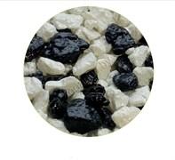 Цветная мраморная крошка 5-10 мм ЧЁРНО/БЕЛАЯ (блестящая)