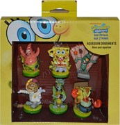 """Набор декораций для акварима """"Губка Боб и его друзья"""" 19*4,5*19,5см"""