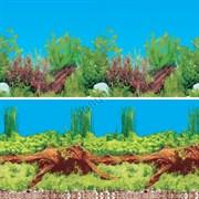Растения с корягой/Растения с корягой и камнями (двухсторонний) 30см
