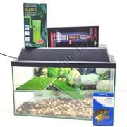 """Черепашатник """"Aqua"""" на 25 л. готовый комплект c оборудованием и декором"""