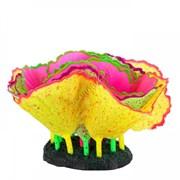 Флуоресцентная аквариумная декорация GLOXY Морской салат разноцветный 11x8x12 см