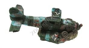 """Декорация пластиковая PRIME """"Затонувший самолет мини"""" 80х45х45мм"""