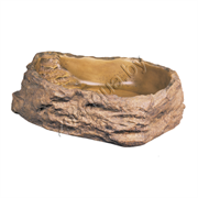 Поилка-камень пластик для террариума S малая 10х10х3см