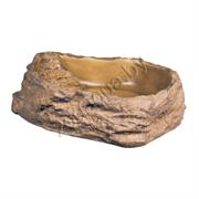 Поилка-камень пластиковая  для террариума M средняя 13х11х3.5см