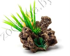 Биокерамика Риф с растениями К-105