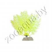 Растение пластиковое GLOFISH флуоресцентное желтое 20,32см