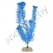 Растение пластиковое GLOFISH флуоресцентное синее 13см