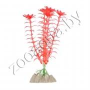 Растение пластиковое GLOFISH флуоресцентное оранжевое 13см