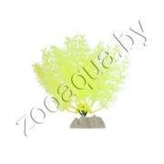 Растение пластиковое GLOFISH флуоресцентное желтое 15,24 см.