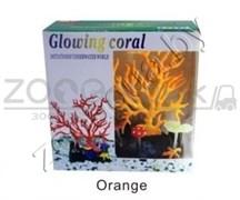 AM0015O Светящийся коралл, оранжевый 16,516,5см.