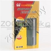 Фильтр внутренний с поворотной дождев. флейтой и регулятором потока, 2W (300лч,акв. до 50л) картридж губка, кассета  с углем