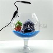 Аквариум Aqua бокал на 7 л. готовый комплект 2